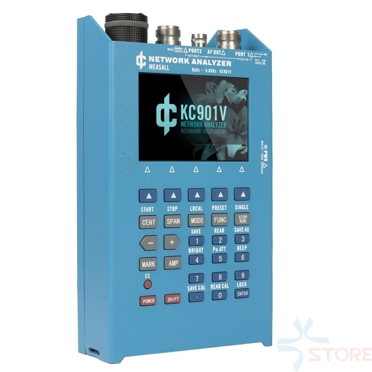 KC901V 6.8GHz analyseur de réseau portatif RF multimètre analyseur de réseau vectoriel analyse de chargeur de jour