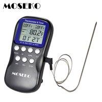 Digitale BBQ Thermometer Eten Probe Vlees Keuken Oven Thermometer Koken Gereedschap Temperatuur Sensor met Timer en Alarm Klok