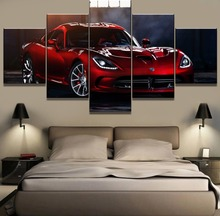 New 5 Piece HD Print Large Dodge Viper Super Car Painting Canvas Wall Art Picture Home Decoration Living Room