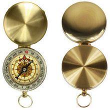 Латунный компас навигации золотой карманный туризм отдых открытый портативный