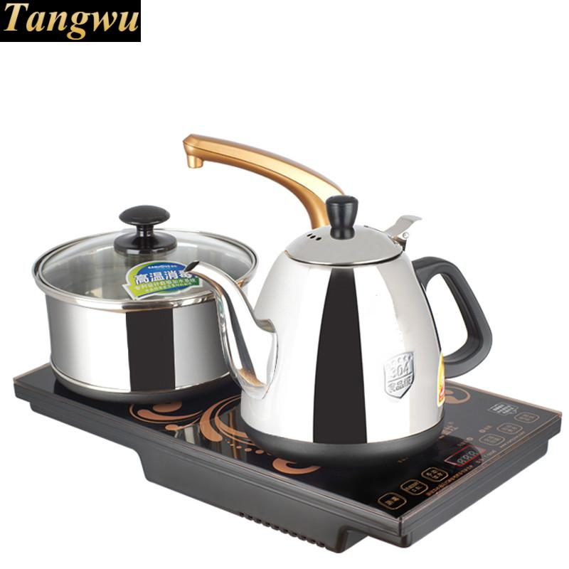 Automatic upper water induction type intelligent electric tea stove kettle ware disinfection automatic water filled electric kettle set of the tea with stove