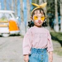 2018 Wiosna Lato New Kids T Shirt Dzieci Długie Rękawy Ubrania Dziewczynka Koreański Printed T Shirty Dziewczyna Topy Trójniki Chłopcy Bluzy
