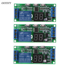 OOTDTY DC 5V 12V 24V LED Display Multifunction Cycle Delay Timer Relay Switch Module
