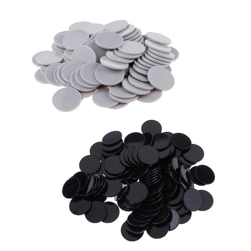 200Pcs Plastic Poker Chips Bingo Board Games Markers Token Kids Fun Toy Gray