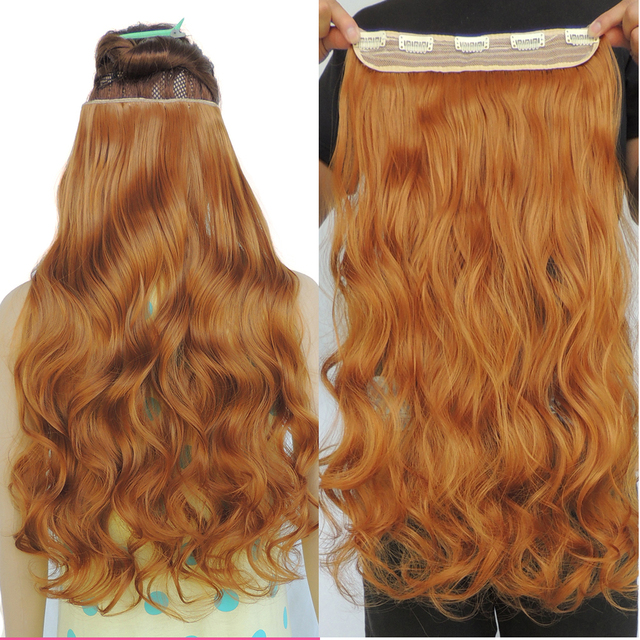 Clip in ginger hair extension 24 inch 5 clips on extension piece clip in ginger hair extension 24 inch 5 clips on extension piece curly wavy synthetic extensiones pmusecretfo Gallery