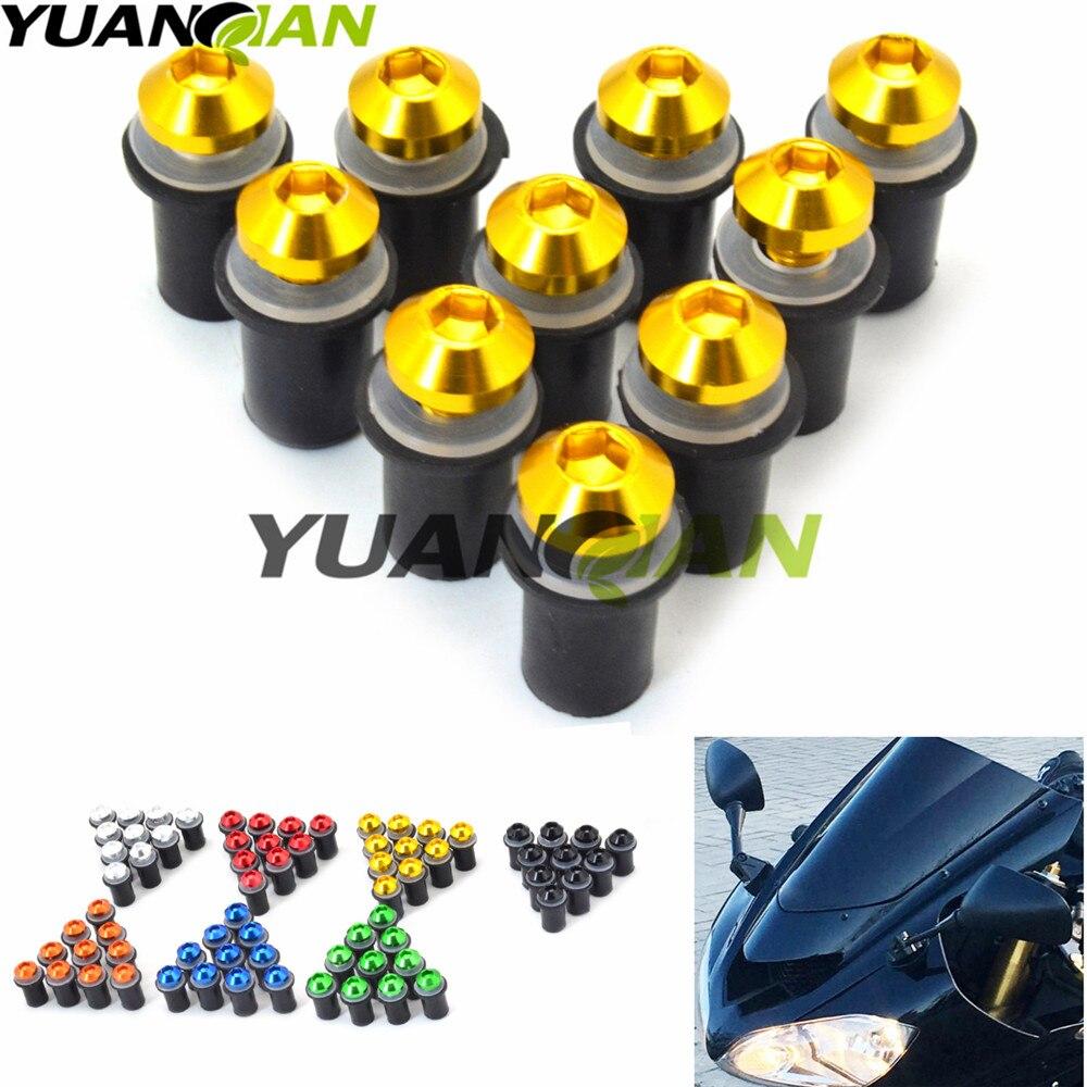 10X5mm Motorcycle Screw Kit Motorbike Windscreen Windshield Bolts Screws for yamaha YZF R125 R15 R25 r 125 15 25 mt-07 mt-09 10