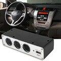 2016 Recién llegado de 3 Vías 12 V Auto Encendedor Del Coche Divisor de toma de 3 USB Cargador de Energía DC Adaptador Cargador caliente venta #