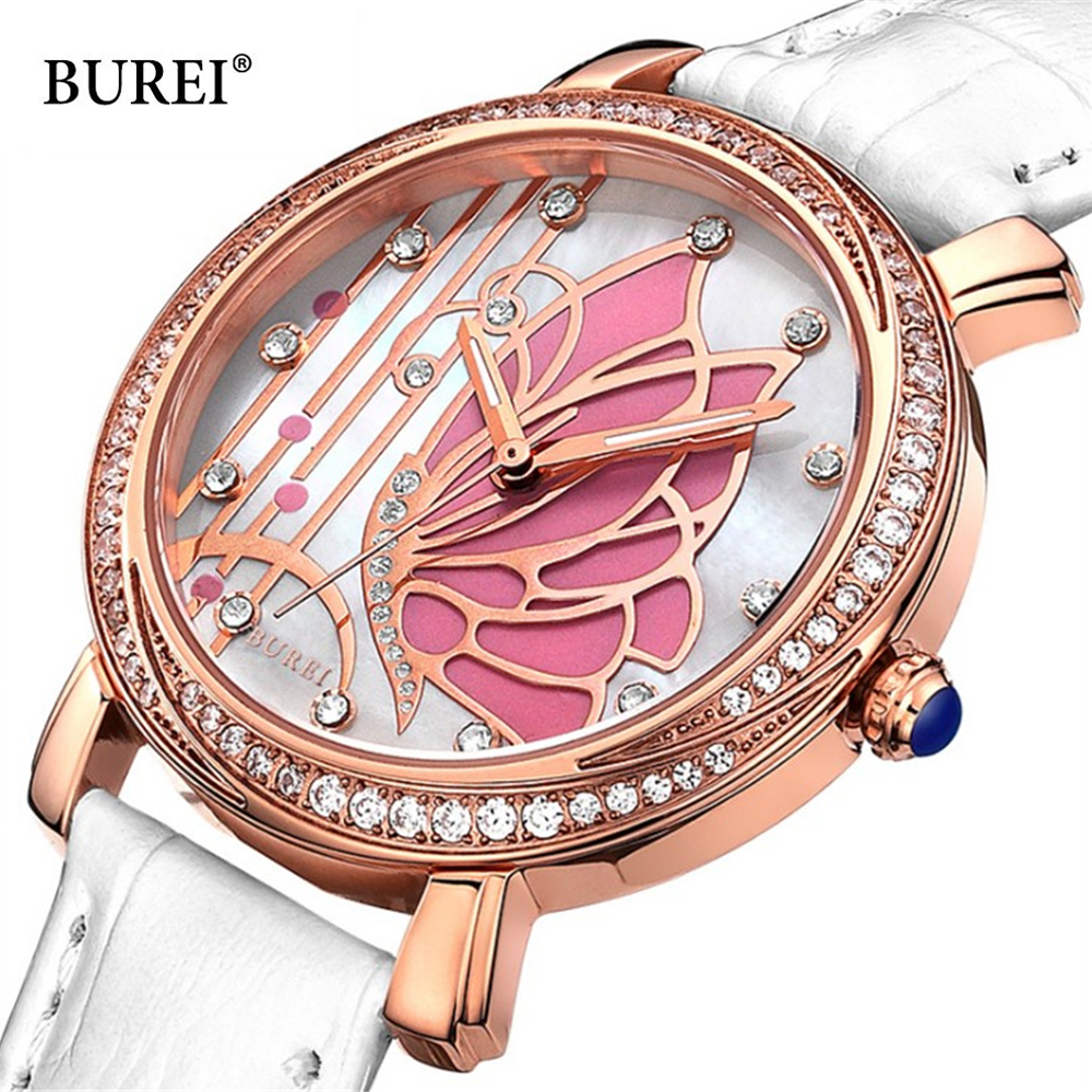 BUREI New Creative Design Watch Mineral Stylish Quartz Women Watch Casual Fashion Ladies Gift Wrist Watch Vintage Timepieces купить в Москве 2019