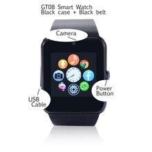 10 stücke dhl verschiffen gt08 sim-karte smart watch unterstützung tf karte für Android und IOS Smartwatches mit Kamera PK U8 KH18 armbanduhr