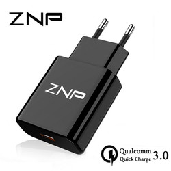ZNP QC 3.0 Fast USB Charger USB Wall Universal Charger Adapter Mobile Phone Charger for iPhone 8 Tablet Charger For Samsung S8