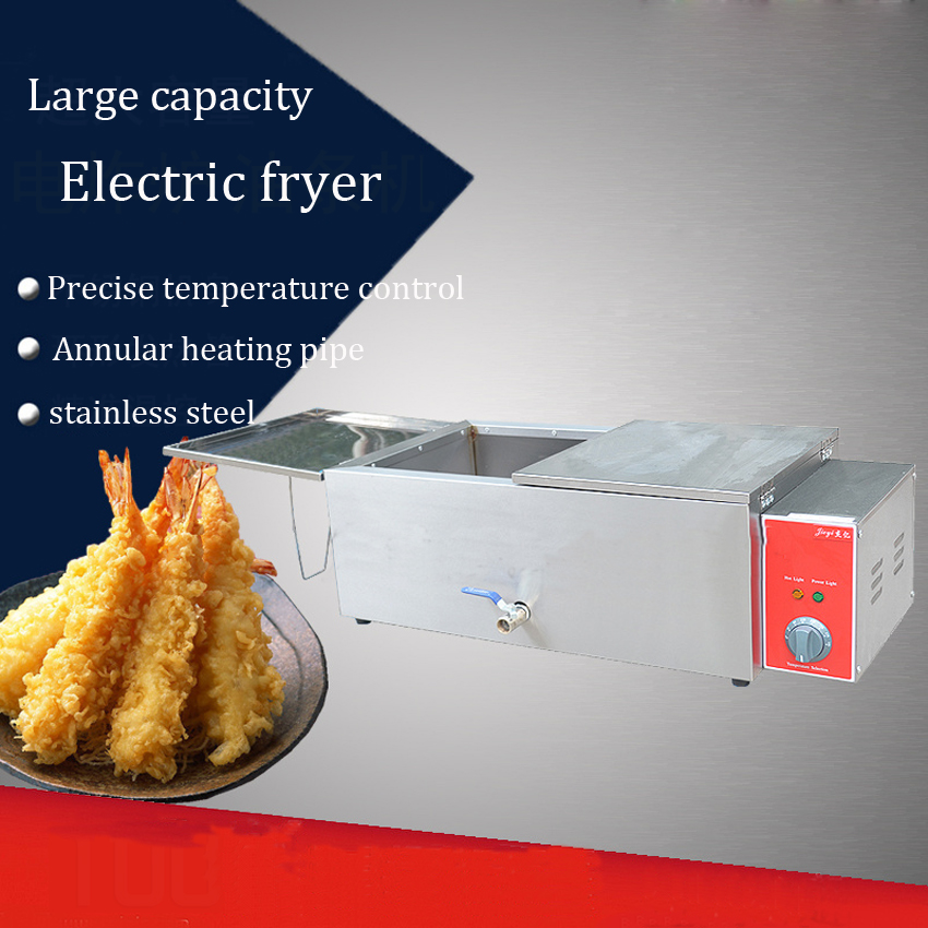 1PC FY-25V 220v  Electric stainless steel high power fast heating deep fryers for Eommercial,with churros,French fries 8l electric fryer with stainless bucket high power fried chicken french fries machine electric deep fryers