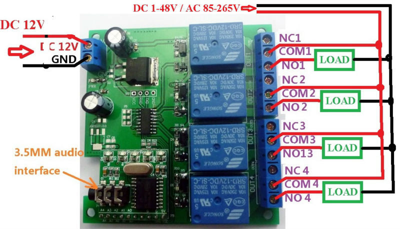 Image 5 - CE023 DC 12V DTMF MT8870 Phone Voice Decoder Control Momentary Toggle Latch Delay Timer Multifunction Relay Remote Module-in Relays from Home Improvement