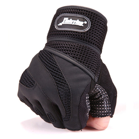 Men Body Building Brand Fitness Gloves Equipment Weight lifting Luvas Non-slip breathable Long Wrist Wrap Black Brown Mittens Multan