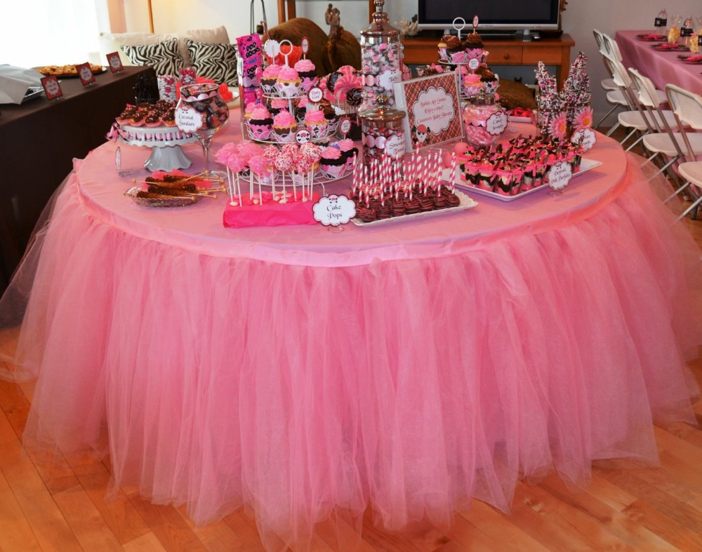 Tulle Tutu Table Skirt For 5FT /60u0027u0027Round Table,Wedding,Birthday,New Baby  Party Decor ,total Length 2.5ft X 16ft/30 Part 96