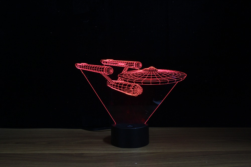 Ufo Table Lamp: novelty unique 3d led table lamp/desk lamp/ ufo shape holiday light / for  Christmas and Halloween atmosphere with touch Opening,Lighting