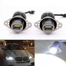Marcador LED de Ojos de Ángel Canbus, 2x40W, 80W, para BMW E90, E91, 328i, 335i, LCI, no xenón, blanco