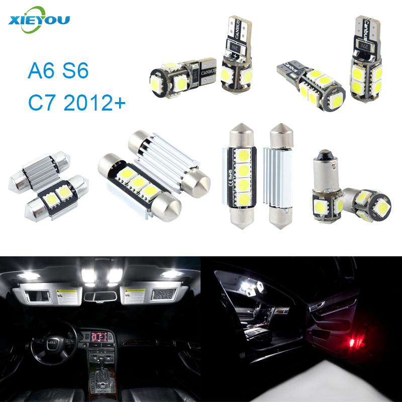 Xieyou 13pcs Led Canbus Interior Lights Kit Package For Audi A6 S6 C7 2012 In Signal Lamp