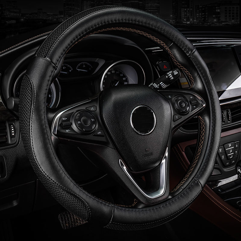 Absorb sweat non-slip ice silk plus cowhide car steering wheel sets for Mercedes-Benz GLK300 ML S350 S400 w203 car decoration