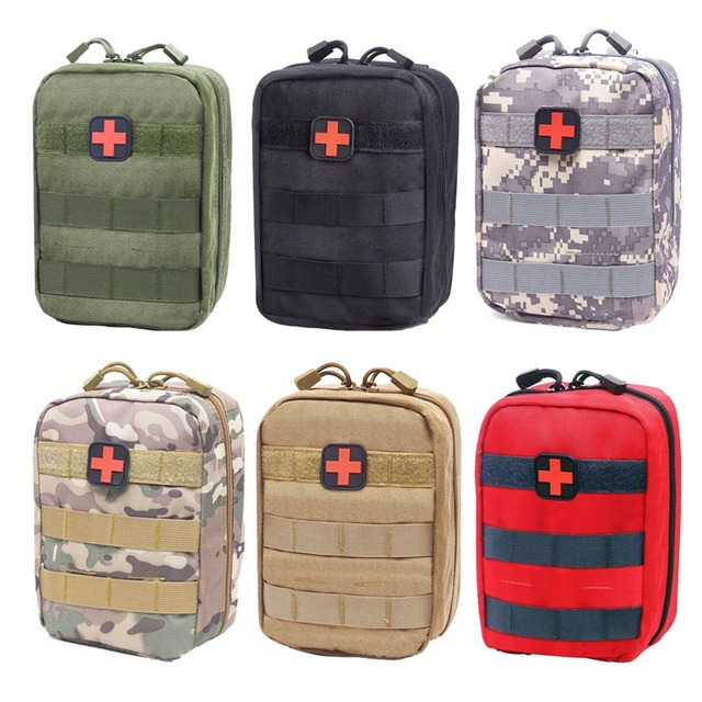 Outdoor Survival Tactical Medical First Aid Kit Molle Medical EMT Cover Emergency Military Package Hunting Utility Belt Bag