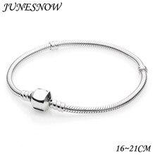 9a5b4f29d 2018 Hot Silver Plated 3mm Basic Snake Chain Fit Pandora Bracelet DIY  Charms Beads Jewelry Original Bracelets & Bangles