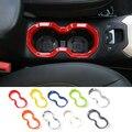 SHINEKA Auto Styling Warter Tasse Halter Dekorative Abdeckung Rahmen Trim Aufkleber Fit für Jeep Renegade 2015 + Innen Zubehör