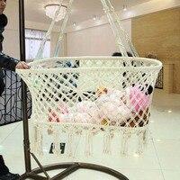 Newborn Baby Summer Suspension Sype Cotton Rope Manual Environment Cradle Basket Weave Design