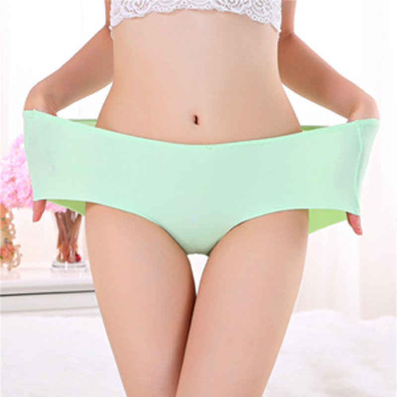 One piece seamless Ice silk Cool Summer Style Underwears Women   Panties   Plus Size 7XL Sexy lingeries women's briefs