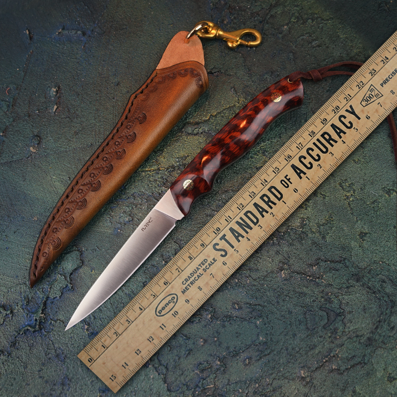 Turenz M390 Steel Fixed Blade Knife Full Tang Fruit Knives Camping Survival Tools Handwork Hunting Knives With Knife Sheath Knives Aliexpress