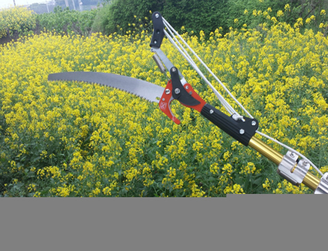 New red 4 pulley pruning cut high altitude garden tools (scissors + saw + rope no rod)