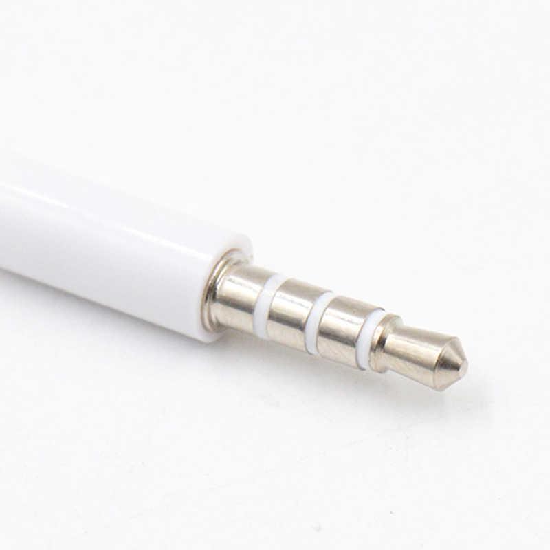 Baru 4 Tiang 1 M Kabel Audio 3.5 Mm MALE untuk Laki-laki Mencatat Mobil AUX Audio Kabel Headphone Hubungkan Kabel MP3 Kabel Ekstensi