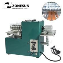 ZONESUN V04 кожаный ремень режущий станок с краем складной кожаный ламинатор ручной работы кожевенное ремесло резка