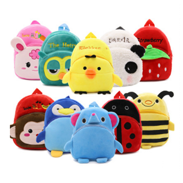 ba4fdccfe378 Baby Toy School Bag Animal Mini Plush Backpack Kids Outdoor Travel Pack Bag  Student Kindergarten Bags Cartoon mochila infantil