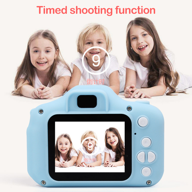 2 Inch HD Screen Chargable Digital Mini Camera Kids Cartoon Cute Camera Toys Outdoor Photography Props for Child Birthday Gift 3