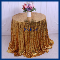 SN024A round cheap bigger size shinnyy gold sequin table cloth