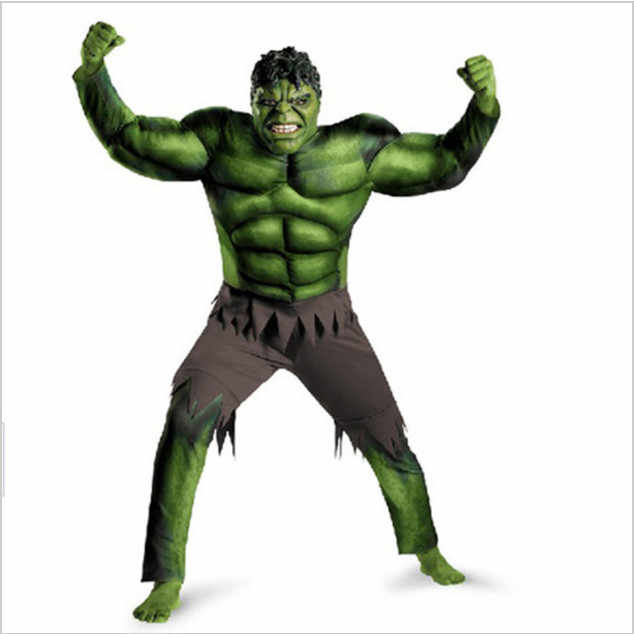 New Avengers Hulk Kostum untuk anak-anak/Fancy dress/Halloween Carnival Party Cosplay Boy Anak Pakaian Dekorasi Persediaan