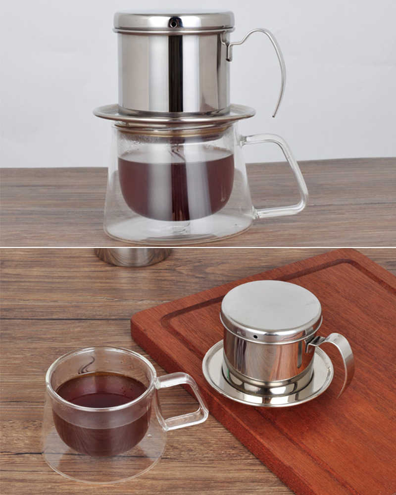 Vietnamese Coffee Filter Press 18 8 Stainless Steel Phin Coffee Maker Pot For Office Home Restaurant Cafe Use Aliexpress