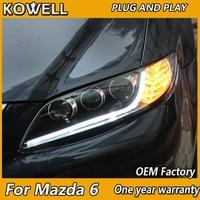 KOWELL Car Styling Head Lamp for Mazda 6 Headlights 2004 2009 2013 Mazda6 LED Headlight DRL Daytime Running Light Bi Xenon HID