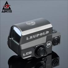 AIMTIS LP LCO Style Red & Green Dot Sight Holográfica 1 MOA Puntería Punto 1x Caza Alcances Fit 20mm Picatinny Del Tejedor Del Alcance ferrocarril