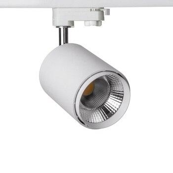 Супер Яркий вращающийся на 360 градусов COB светодиодный Трек светильник 20 Вт Светодиодный точечный светильник 220 В с регулируемой яркостью/бе