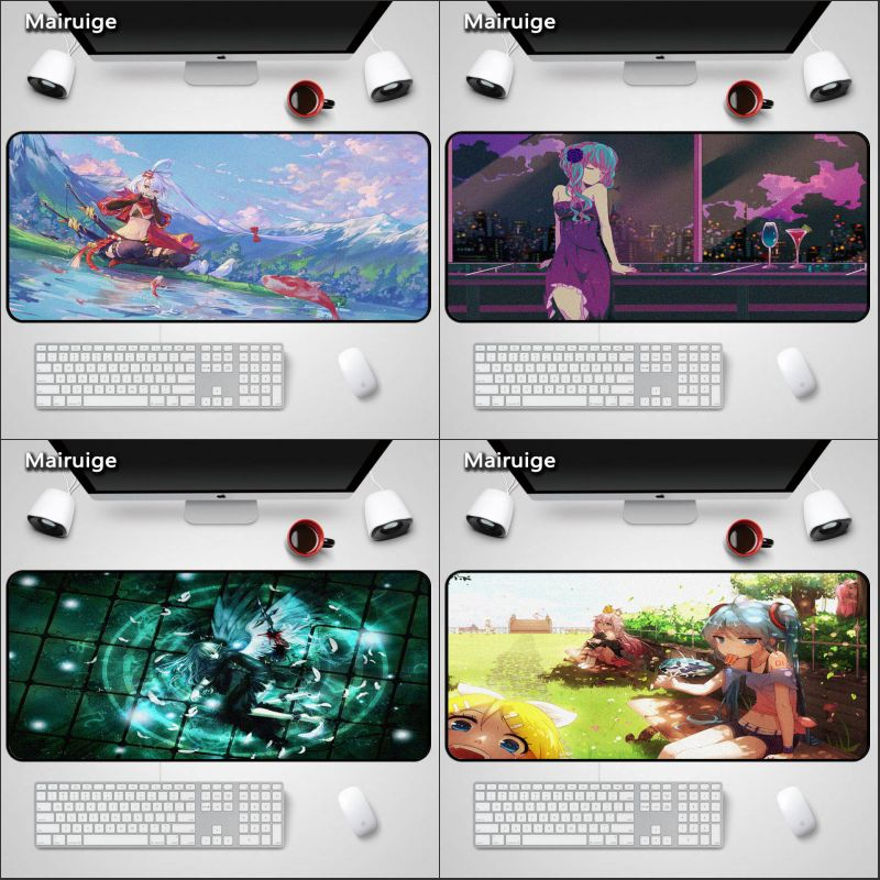 Mairuige Anime Girls MousePad Large MousePads Japan Anime miku Rubber Customized pc tabletop gaming mouse pads ...