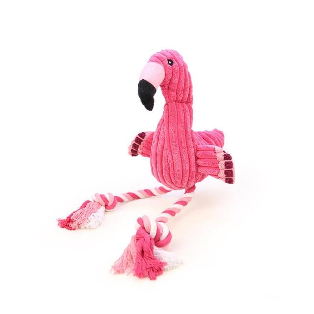 Flamingo Forma Cuccioli di Cane Giocattolo Stridulo Pet Chew Toy