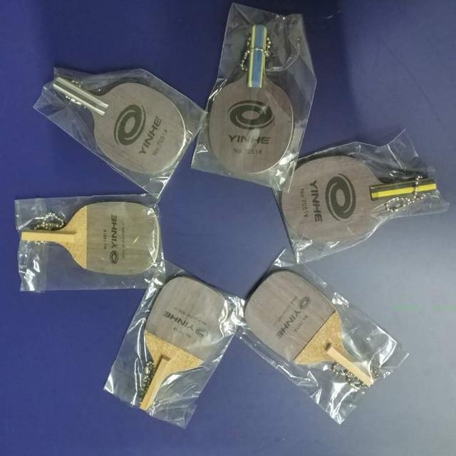 1pcs/lot Yinhe Galaxy No.7051 mini table tennis rackets key chain pendant / mini sign board