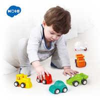 6 pièces/lot HUILE jouets 3117 bébé jouets grande traction voiture bonbons couleur roues Mini voiture Train avion modèle jouets pour enfants garçons