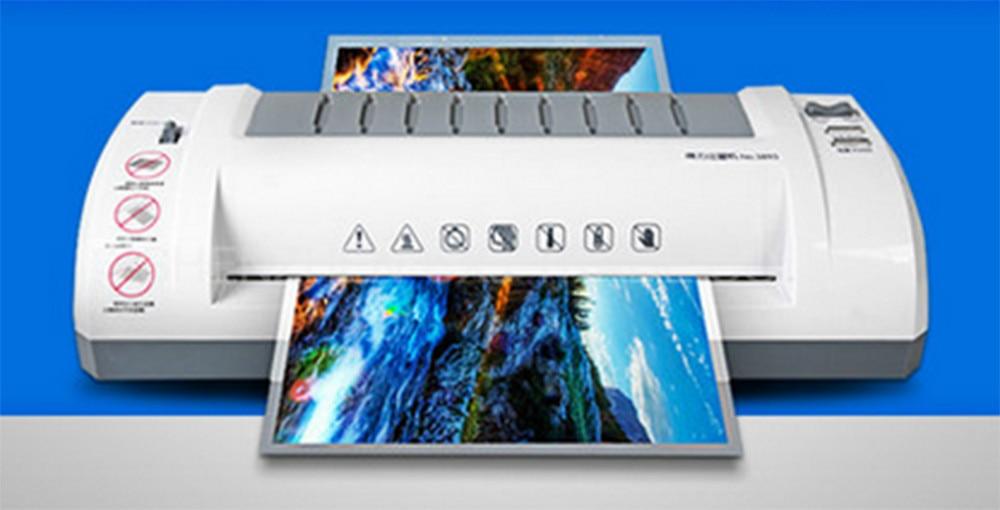 220VFree ship 1pc Deli 3893 Application of A4 fashion professional mute type laminating machine Deli 3893 A4 Laminator