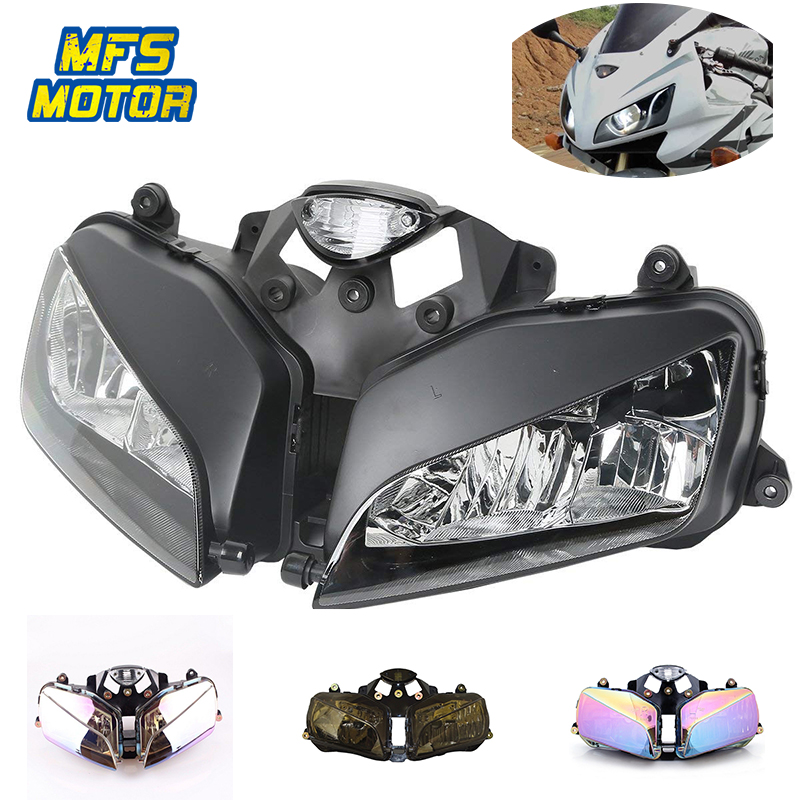 Headlight For 03-06 Honda F5 CBR600RR CBR 600 RR Motorcycle Front Lamp Assembly Upper Head Light Housing 2003 2004 2005 2006 motorcycle radiator for honda cbr600rr 2003 2004 2005 2006 aluminum water cooler cooling kit