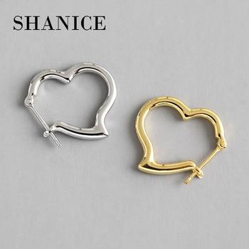 e3afd65df7c8 Pendientes de plata de ley 925 auténticos pendientes de corazón de cristal  completo de oro rosa ...