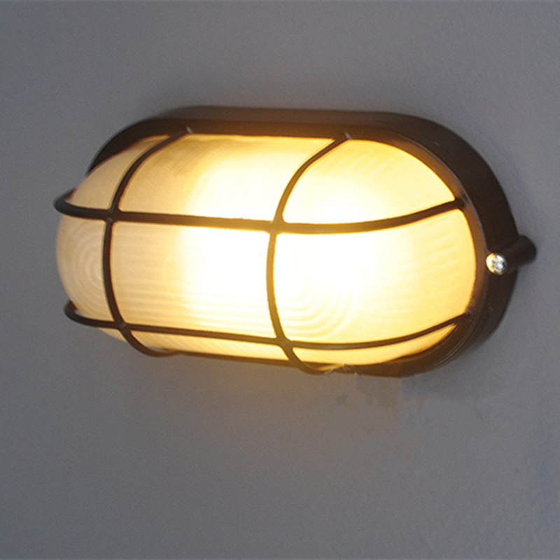 preventive e27 outdoor wall led light modern waterproof vintage lamp