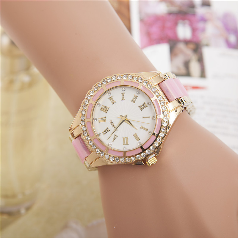 Hot Selling Wrist Watch Women Marble Mirror Roman Scale Diamond Casual Quartz Watch 6 Colors Can Be Selected 2017 New Ceasuri