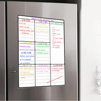 A3 Магнитная белая доска для записей для Кухня холодильник многоцелевой холодильник Еженедельный белая доска календарь для меню планирован...
