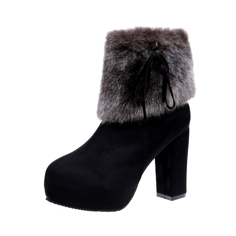 Femme Spry En Fourrure 2 2018 D'hiver Raquettes Peluche Plate Étanche Talons 1 Cheville forme Botte Talon Femmes Bottes Chaussures Chaussons q6w1nCEvx